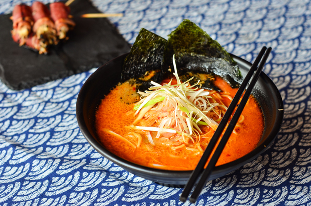 food photography ramen japanese halal salmon