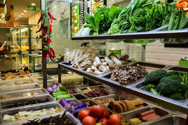 halal mala chinese ingredients vegetables meat