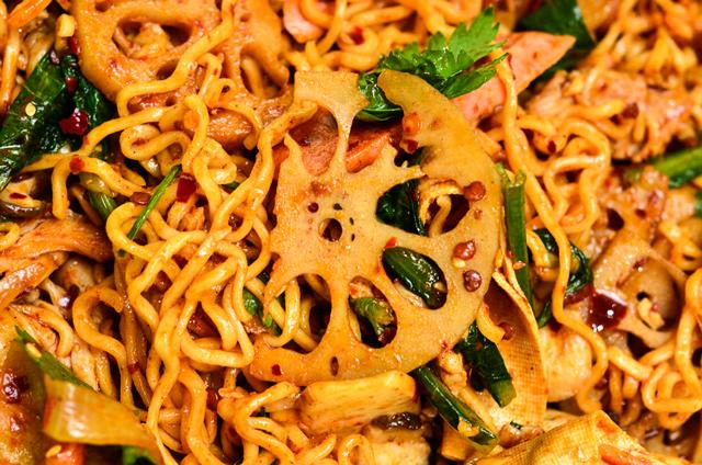 food photography mala halal chinese close up lotus root