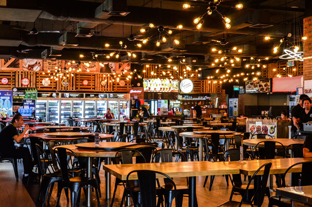 halal western store environment cosy dim lights