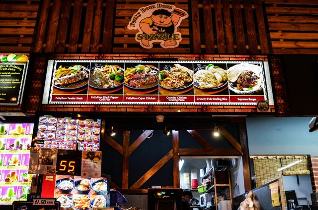 halal western food menu storefront