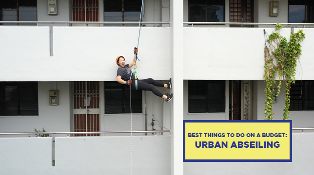 BEST THINGS TO DO ON A BUDGET: ABSEILING OFF HDB BLOCKS