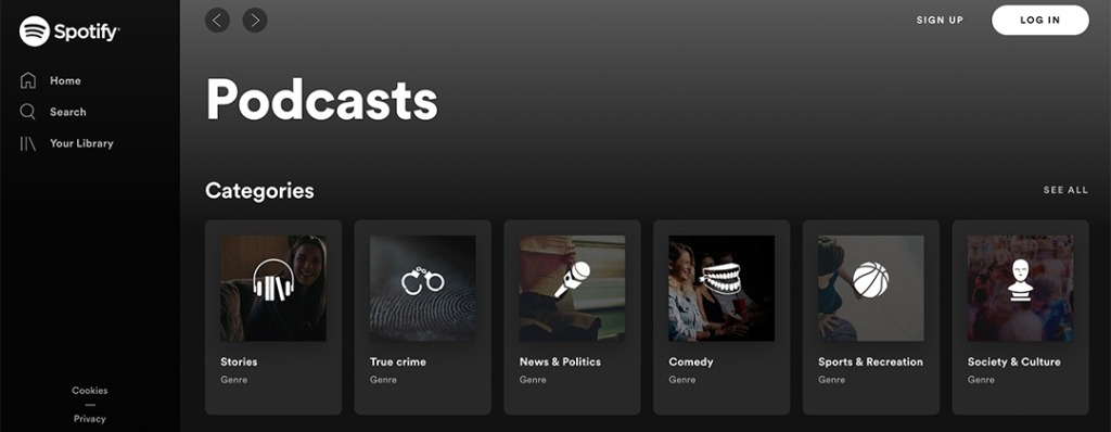 Listen To Spotify Podcasts When Bored