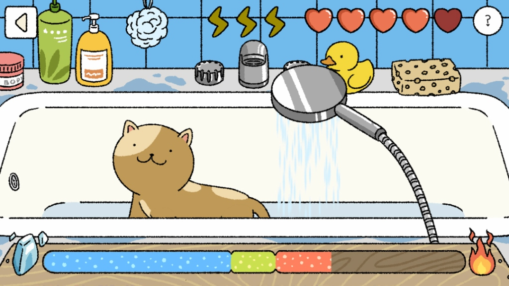 Cat bath shower free game